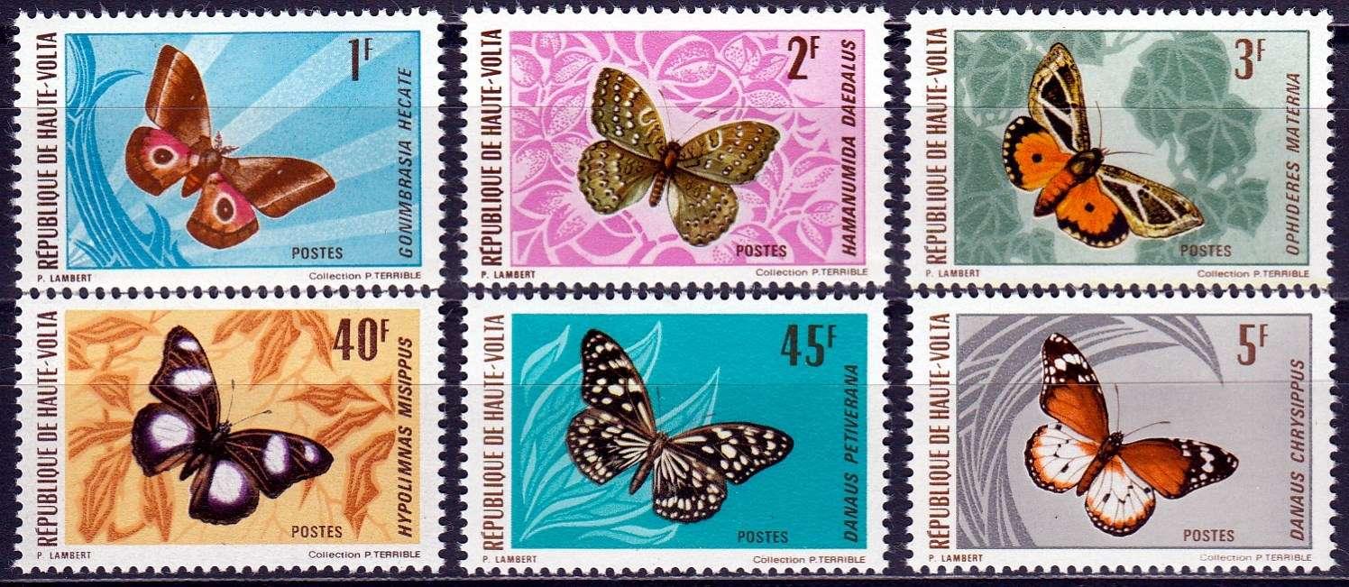 Briefmarken Sommer Obervolta Michel 335 340
