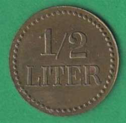 125.10: Notmünzen / Wertmarken - Biermarken