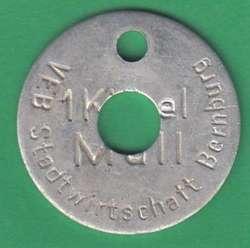 125.60: Notmünzen / Wertmarken - Müllmarken