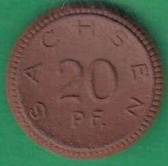 125.90: Notmünzen / Wertmarken - Porzellanmünzen