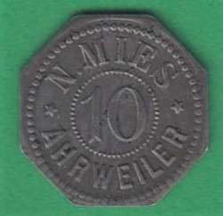 125.100: Notmünzen / Wertmarken - private Notmünzen