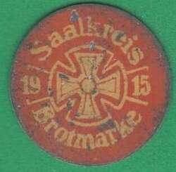 125.55: Notmünzen / Wertmarken - Brotmarken