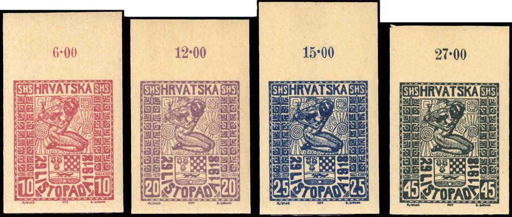 Neueste Technik p 1330100273 GemäßIgt Jugoslawien Nr 51-54 U P Typ Ii Or **