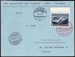 982552: Zeppelin, Zeppelinpost LZ 127, Liechtensteinfahrten