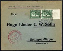 984010: Zeppelin, Zeppelinpost LZ 130, Sudetenlandfahrten