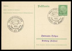 984510: Zeppelin, Zeppelin Sonderstempel, Sonderstempel bis 1939