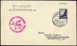 983520: Zeppelin, Zeppelinpost LZ129, Olympiafahrt