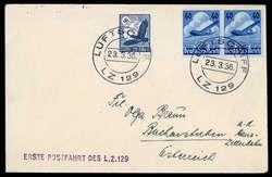 983005: Zeppelin, Zeppelinpost LZ129, Deutschlandfahrten