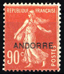 1670: Andorra Französische Post