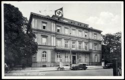 660440: III. Reich Propaganda, Bauten und Strassen, Ansichten mit NS-Symbolen