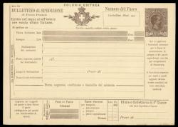 3560: Italienisch Eritrea - Ganzsachen