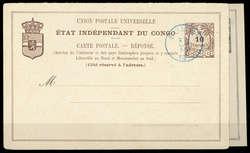 1850: Belgisch Kongo - Ganzsachen