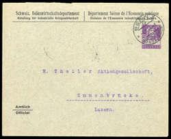 5660: Schweiz Dienstmarken für Kriegswirtschaft - Besonderheiten