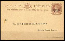 3215: Indien Staaten Patiala - Ganzsachen