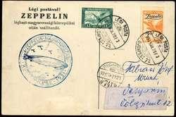 982568: Zeppelin, Zeppelinpost LZ 127, Ungarnfahrten