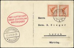 Zeppelin, Zeppelinmail LZ 127, Germanyflights 1930