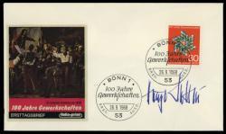 204530: Ansichtskarten, Autographen, Politiker