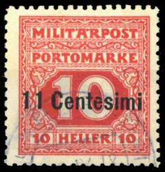 4800: Österreich Feldpost Italien - Portomarken