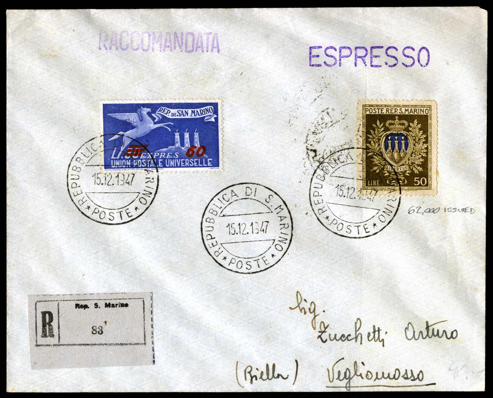 Lot 1066 - europa San Marino -  HA HARMERS AUCTIONS S.A. Treasure Hunt 3