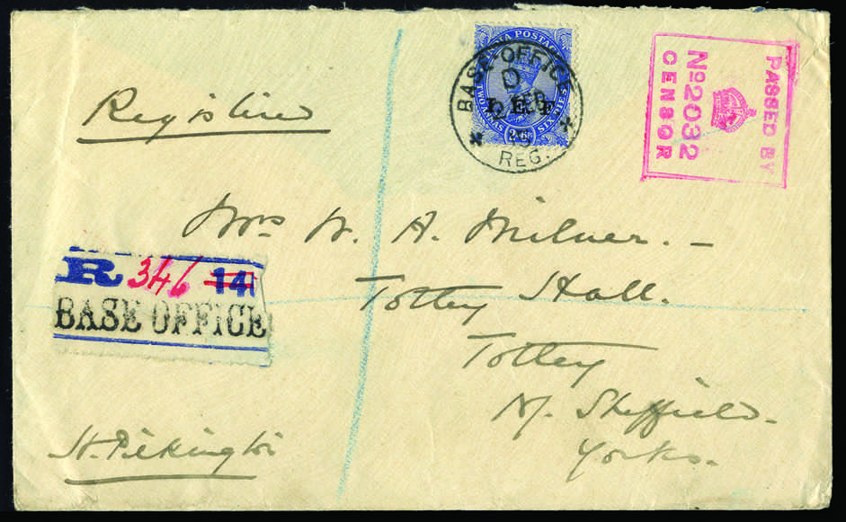 Lot 21 - andere gebiete indien britisch indische feldpost -  HA HARMERS AUCTIONS S.A. Treasure Hunt 3