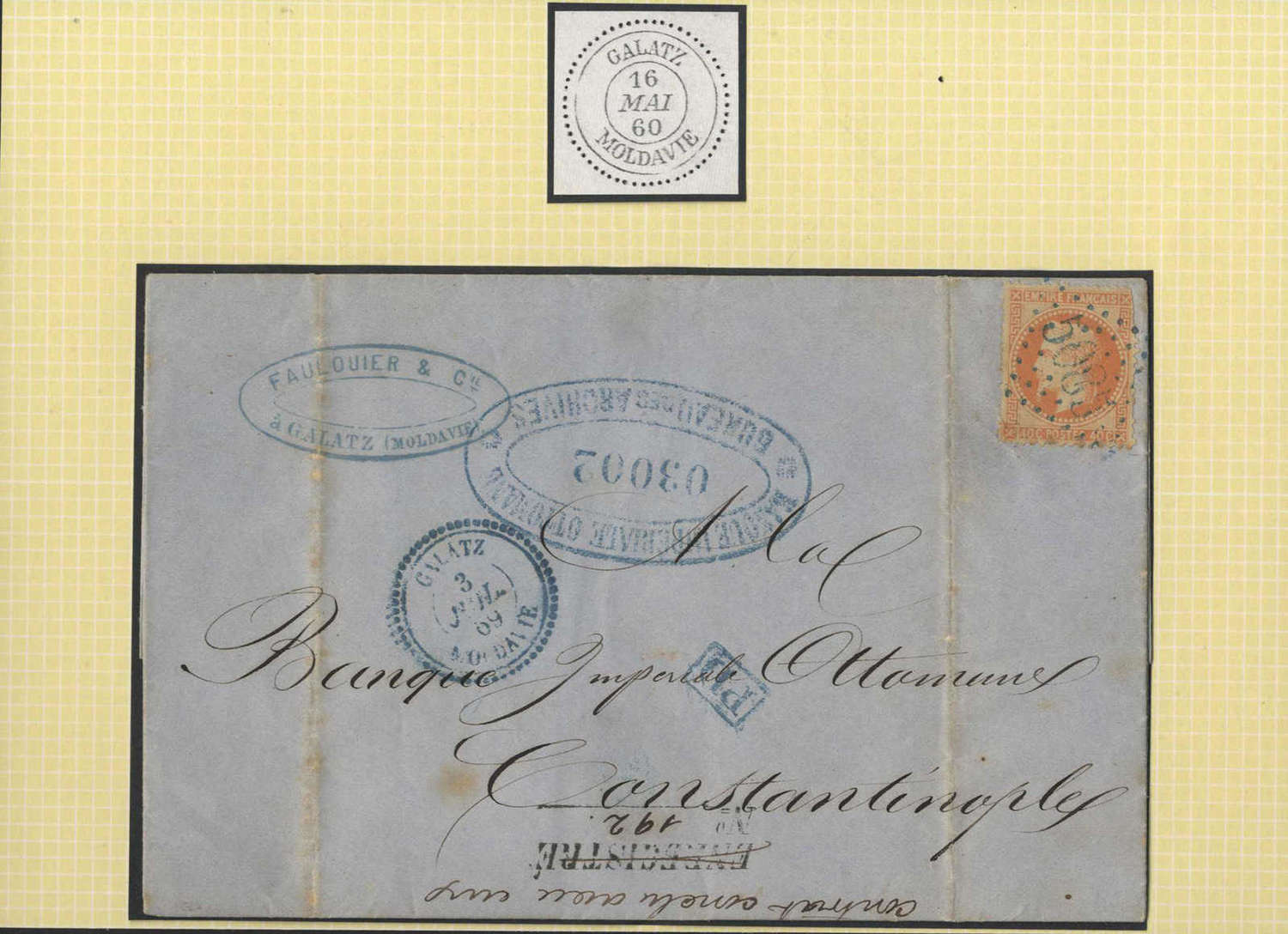 Lot 1212 - europa Rumänien Französische Levante Postämter -  HA HARMERS AUCTIONS S.A. Treasure Hunt 3