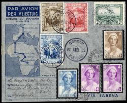 1850: Belgian Congo - Airmail stamps