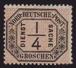 65: Altdeutschland Norddeutscher Postbezirk - Dienstmarken