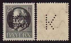15: Altdeutschland Bayern - Portofreiheitsmarken