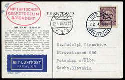 982506: Zeppelin, Zeppelinpost LZ 127, Deutschlandfahrten 1930