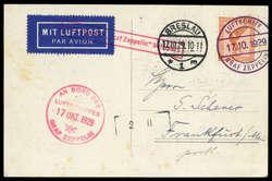982504: Zeppelin, Zeppelinpost LZ 127, Deutschlandfahrten 1929