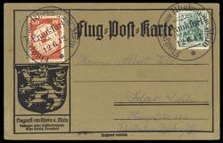 981010: Zeppelin, Zeppelinpost vor WW-I, Rhein-Main